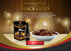 special new year black gold