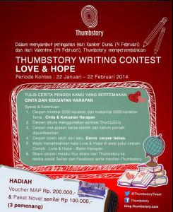 tumbstory writing contest love & hope