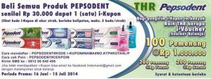 THR Pepsodent 2014 (Bersama Indomaret)