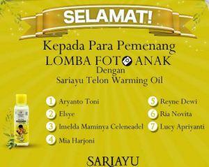 Sariayu telon oil