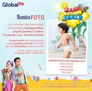 Kontes Foto Aksi Bocah Cilik (Sweety & Global TV)