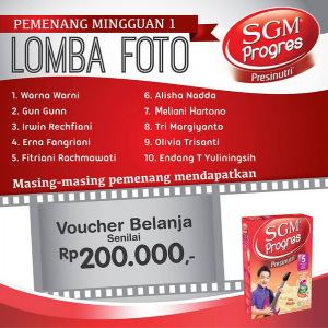 Pemenang SGM Progres Periode 1