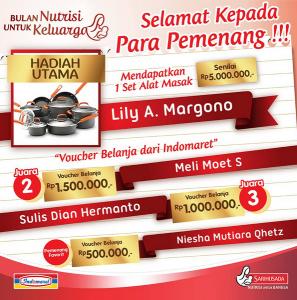 Pemenang Utama Lomba Foto Resep Kreatif SGM (Indomaret)