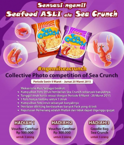 Collective Photo Competition of Sea Crunch, Berhadiah Voucher Belanja!
