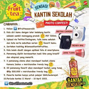Sensasi Kantin Sekolah Photo Contest, Berhadiah Instax Kamera & Uang Tunai!