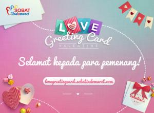 15 Pemenang Love Greeting Card - Indomaret