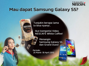 Video Kompetisi Nescafe White Coffe, Berhadiah Samsung Galaxy S5