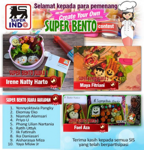 Pemenang Create Your Own Super Bento Contest (Superindo)