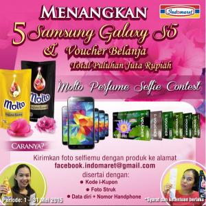 Selfie Molto Indomaret Berhadiah Samsung Galaxy S5 & Voucher Belanja