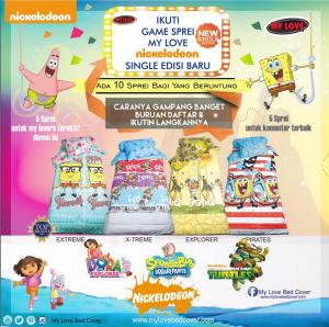 Share Motif Seprei Nickelodeon MyLove Pilihanmu, Dapatkan Hadiahnya!