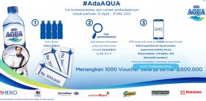 Menangkan 1000 Voucher Belanja @Rp.500.000 Dari Aqua