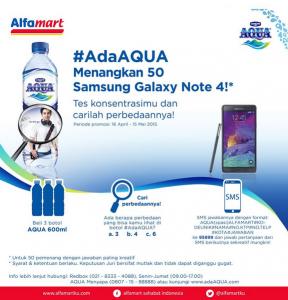 Aqua Alfamart (Cari Perbedaan), Berhadiah 50 Samsung Galaxy Note 4