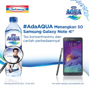 Menangkan 50 Samsung Galaxy Note 4 (Aqua -Indomaret)