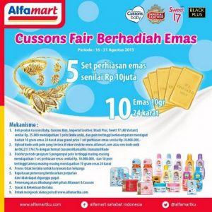 Cussons Fair Berhadiah Emas