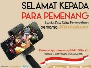 12 Pemenang Selfie Kemerdekaan Bersama Kintakun