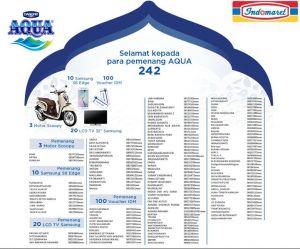 133 Pemenang Aqua 242 - Indomaret