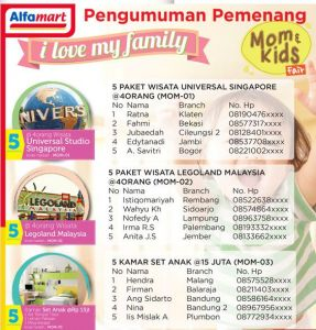 140 Pemenang Mom n Kids Fair - Alfamart