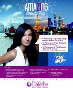 Undian Natasha Berhadiah Trip Ke Hongkong, Malaysia & Thailand