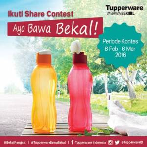 Share Contest, Berhadiah Tupperware!