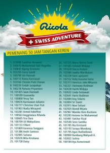 552 Pemenang Promo Ricola Swiss Adventure
