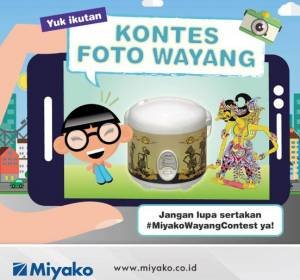 Kontes Foto Wayang Miyako Berhadiah Produk Miyako Senilai Jutaan Rupiah