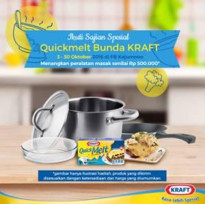 Sajian Spesial Kraft Quick Melt Berhadiah Set Alat Masak Premium