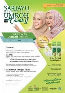 Undian Sariayu Berhadiah Umroh Cantik II