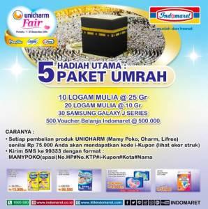 Unicharm Fair Berhadiah 5 Paket Umroh