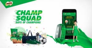 Milo Champ Squad Berhadiah Voucher Belanja & Paket Olahraga Ekslusive