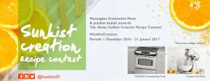 Sunkist Creation Recipe Berhadiah Kitchen Aid Mixer & Voucher Belanja