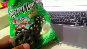 Biskuit Inafood : Sihitam Manis Rasa Melon