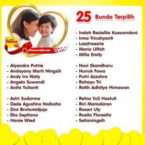 25 Pemenang Kalung Emas Mothers Day Acitivity Karena Bunda - Dancow
