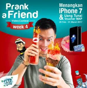 Prank A Friend Video Contest Berhadiah Iphone 7