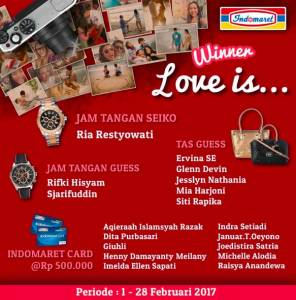 18 Pemenang Indomaret Love Is ...
