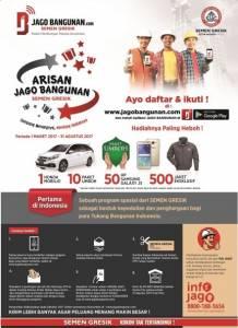 Arisan Jago Bangunan Semen Gresik Berhadiah Honda Mobilio