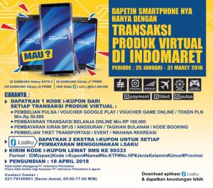 Undian Produk Virtual Indomaret Berhadiah Ratusan Hp Samsung & Ribuan I Voucher