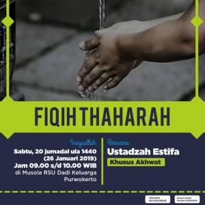 Fiqih Thaharah Bersama Ustadzah Estifa (RSDK Purwokerto)