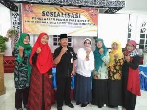 Sosialisasi Pengawasan Pemilu Partisipatif Panwaslu Purwokerto Selatan  Bersama Tim Penggerak PKK