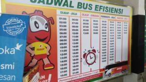 Tarif, Fasilitas & Jam Pelayanan Bus Efisiensi