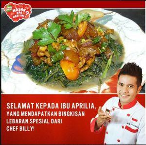 Cah Kangkung Siram Kikil Lombok Ijo (Si Kaya Protein VS Kaya Serat)