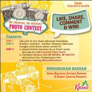 "Be Natural Be Healthy Photo Contest ""Kiranti"""