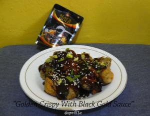 Golden Crispy With Black Gold Sauce
