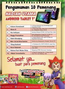 10 Pemenang Tablet Android Marimas Magic Han War