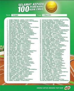 100 Pemenang Koin Emas Milo (Periode 7)