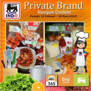 Private Brand Receipes Contest, Berhadiah Voucher Belanja