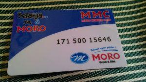 Jumlah Point Penukaran Moro Member Card (MMC)