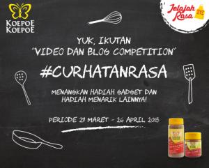 Kompetisi Blog & Video #CurhatanRasa Berhadiah Gadget & Hadiah Menarik Lainnya!