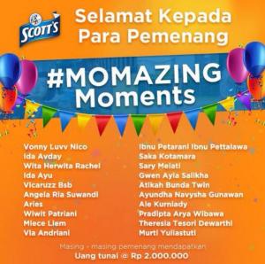 20 Pemenang Momazing Moments