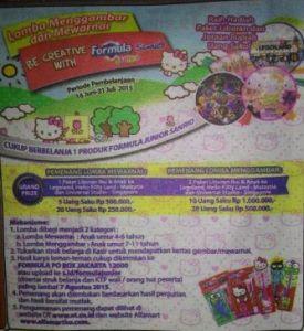 Be Creative With Formula Junior Sanrio Berhadiah Paket Liburan