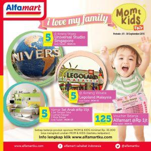 Mom & Kids Fair Alfamart Berhadiah Paket Wisata Keluarga Ke Singapura